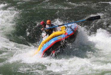 Kristin rafting